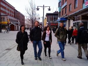 På väg till lunch i Luleå under vår sista grupphandledning som pastorsadjunkter