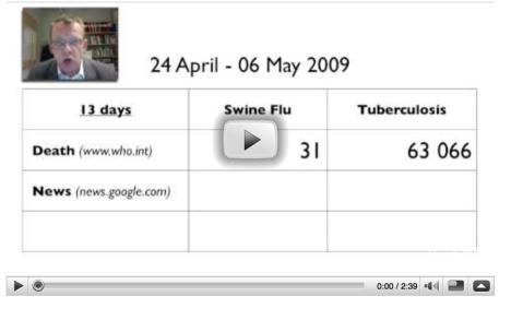 Hans Rosling om svininfluensa och tbc