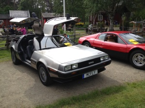 DeLorean från klassikerträffen för europeiska bilar i Lycksele 31 juli 2015.